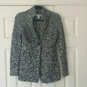 Loft one button cardigan